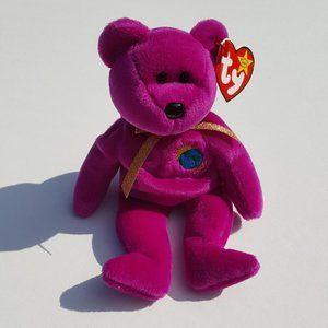 Ty Beanie Babies MILLENIUM Millennial Bear Earth